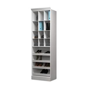 Bestar Versatile Collection White 25-in Cubby Storage Unit
