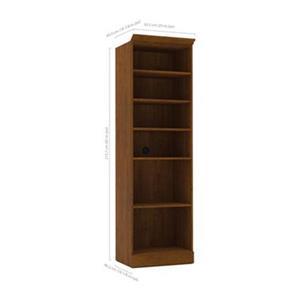Bestar Versatile Tuscany Brown 25-in Open Shelves Storage Unit