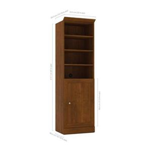 Bestar Versatile Tuscany Brown 25-in 1 Door/Open Shelves Storage Unit