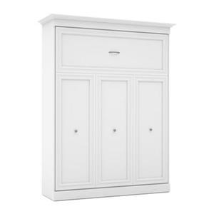 Lit escamotable Bestar blanc de style Murphy de 89,90 po x 69,40 po, collection Versatile