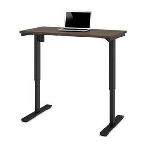 Bestar 24-in x 47.63-in Antigua Brown Electric Height Adjustable Desk