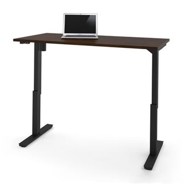 Bestar 30-in x 59.30-in Chocolate Brown Electric Height Adjustable Desk