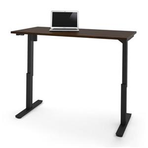 Bestar 30-in x 59.30-in Chocolate Brown Electric Height Adjustable Desk