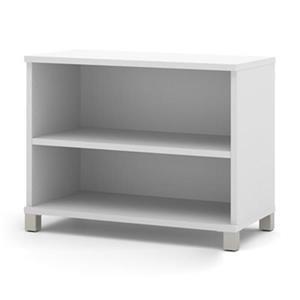 Bestar Pro-Linea 28.4-in x 35.6-in x 19.5-in White Bookcase