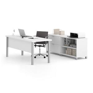 Bestar Pro-Linea 29.90-in x 71.10-in White Executive Set