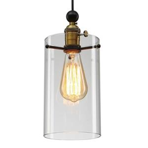 Design Living DU Series Collection 5.1-in x 35.4-in Antique Brass Cylinder Mini Light
