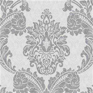Graham & Brown 56 sq ft Grey Palais Regent Unpasted Wallpaper
