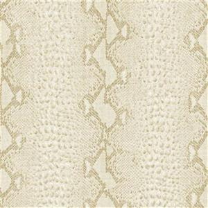 Graham & Brown 56 sq ft White/Gold Snake Skin Unpasted Wallpaper