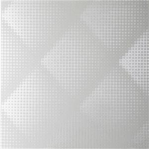 Graham & Brown 56 sq ft White Illusions Braille Unpasted Wallpaper