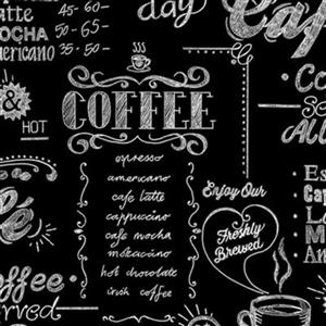Graham & Brown Modern Living 56 sq ft Black/White Coffee Shop Unpasted Wallpaper
