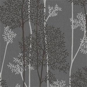 Graham & Brown Innocence 56 sq ft Charcoal/Silver Aura Unpasted Wallpaper