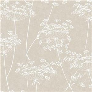 Graham & Brown Innocence 56 sq ft Taupe Aura Unpasted Wallpaper