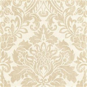 Graham & Brown Artisan 56 sq ft Oyster Gloriana Unpasted Wallpaper