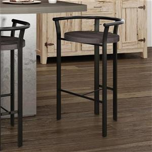 Amisco Rendezvous 26-in Metal Bar Stool