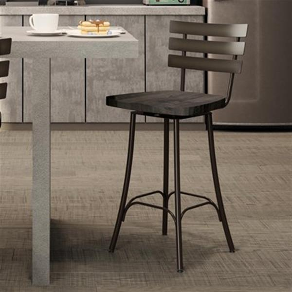 Amisco Stadium 26-in Swivel Metal Bar Stool