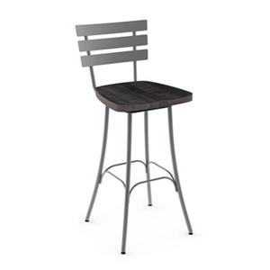Amisco Stadium 30-in Swivel Metal Bar Stool