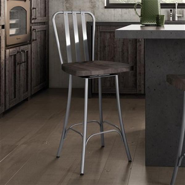 Amazing Amisco Bond 26 In Swivel Metal Bar Stool Bralicious Painted Fabric Chair Ideas Braliciousco