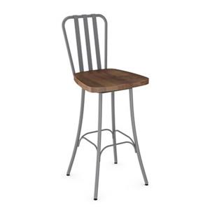 Amisco Bond 30-in Swivel Metal Bar Stool