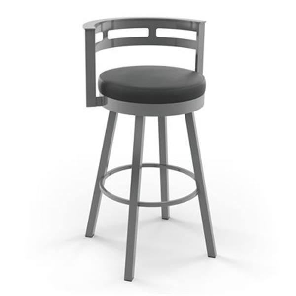 Tabouret pivotant Render pour comptoir, métal, gris/noir