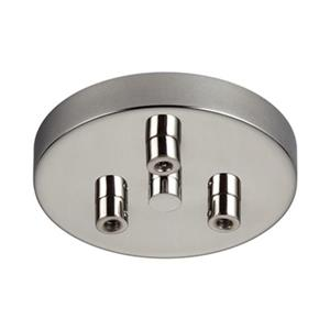 Feiss 3-Light Multi Port Polished Nickel Ceiling Canopy with Swag Hook.