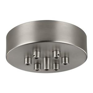 Feiss Multi-Port Canopies Satin Nickel 7-Light Multi-Port Ceiling Canopy with Swag Hooks