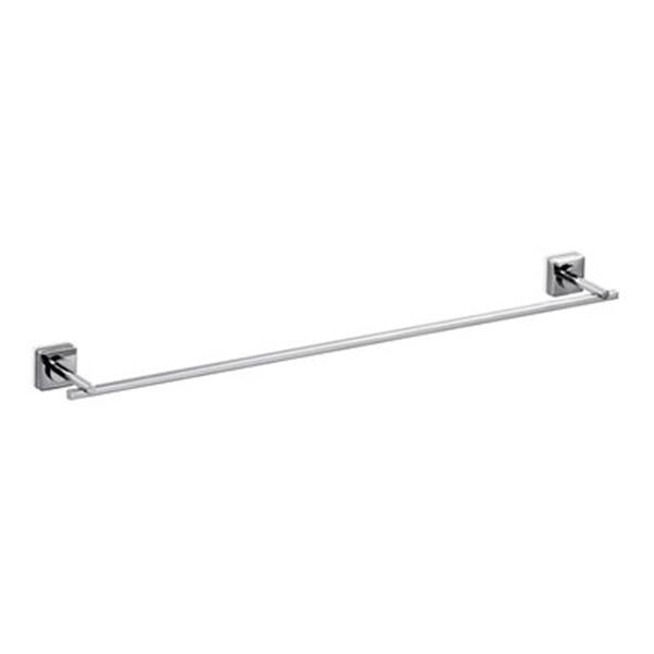 WS Bath Collections Quadro 25.20-in Polished Chrome Towel Bar