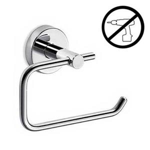 WS Bath Collections Gealuna Polished Chrome  Self-Adhesive Reserve Toilet Paper Holder