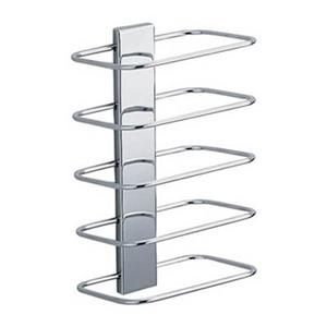 WS Bath Collections Hotellerie 6.30-in Polished Chrome Wall Mount Towel Rack