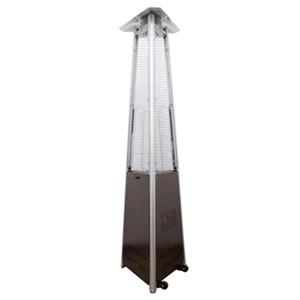 AZ Patio Heaters Hammered Bronze Natural Gas Glass Tube Patio Heater