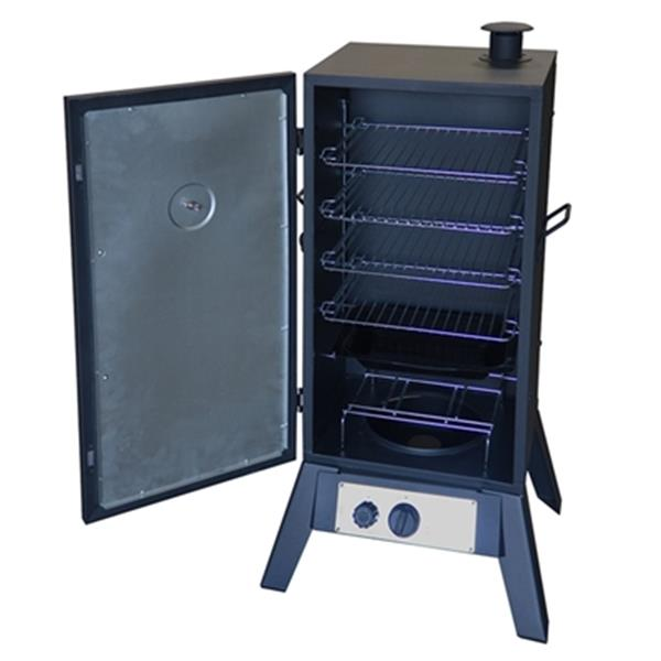 AZ Patio Heaters 41-in x 20-in Black Charcoal/Propane Vertical Smoker