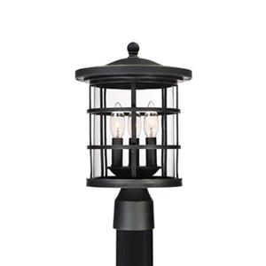 Quoizel Asheville 3-Light Black Post Lantern