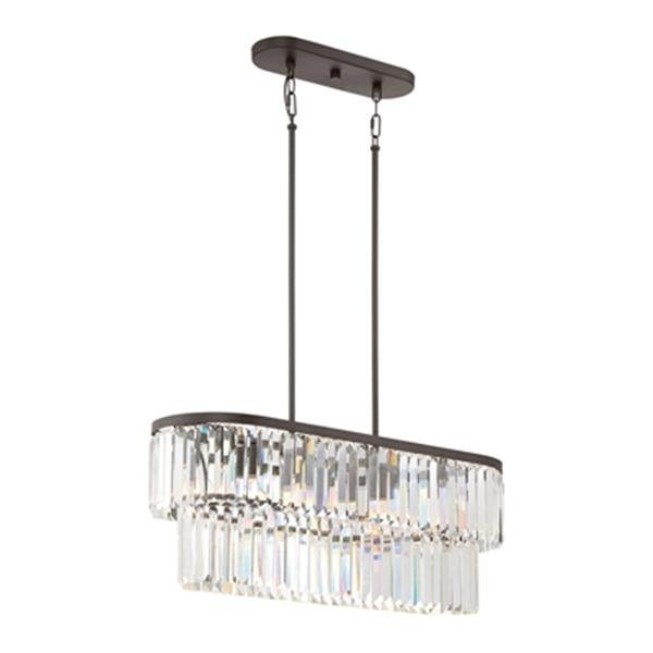 Quoizel Valentina 4-Light Crystal Kitchen Island Light