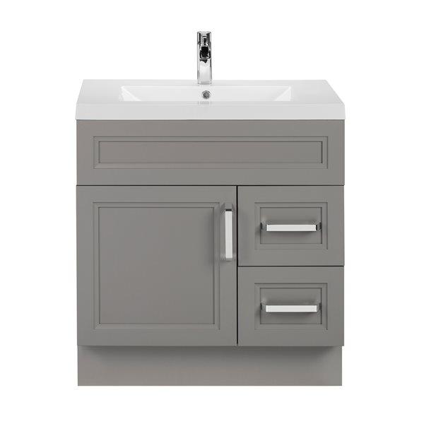 Cutler Kitchen & Bath Urban 30-in Day Break Grey Single Bowl 2-in Top Free Standing Bathroom Vanity