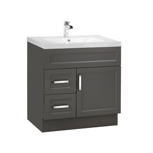 Cutler Kitchen & Bath Urban 30-in Dark Brown Single Bowl 2-in Top Free Standing Bathroom Vanity