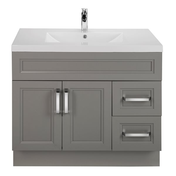 Cutler Kitchen & Bath Meuble-lavabo avec comptoir autoportant de 2 po 36 po Cutler Kitchen & Bath Collection URBDB36RHT