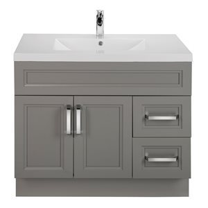 Cutler Kitchen & Bath Urban 36-in Day Break Grey Single Bowl 2-in Top Free Standing Bathroom Vanity