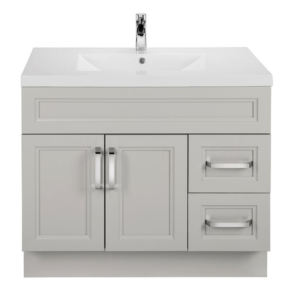 Cutler Kitchen & Bath Meuble-lavabo Urban de Cutler, lavabo simple, 36, gris pâle URBMD36RHT