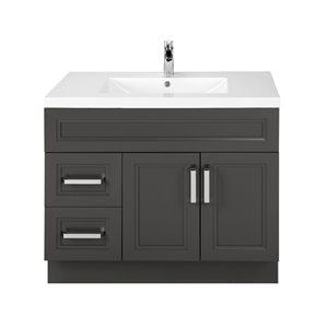 Cutler Kitchen & Bath Urban 36-in Dark Brown Single Bowl 2-in Top Free Standing Bathroom Vanity