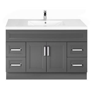 Cutler Kitchen & Bath Urban 48-in Day Break Grey Single Bowl 2-in Top Free Standing Bathroom Vanity