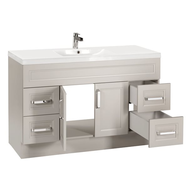 Cutler Kitchen Bath Urban 48 In Light Grey Single Sink Bathroom Vanity With White Acrylic Top Urbmd48sbt Rona