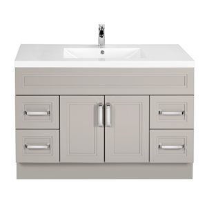 Cutler Kitchen & Bath Urban 48-in White Single Bowl 2-in Top Free Standing Bathroom Vanity