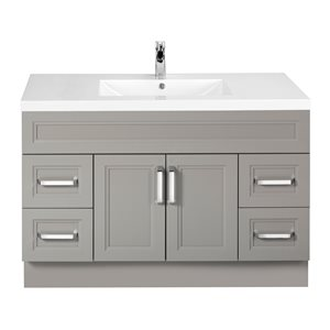 Cutler Kitchen & Bath Urban 48-in Dark Brown Single Bowl 2-in Top Free Standing Bathroom Vanity
