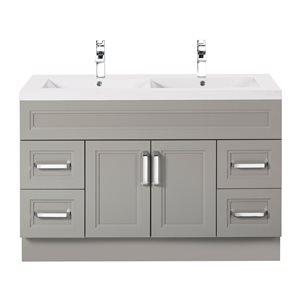 "Cutler Kitchen & Bath Urban Collection Bathroom Vanity - Double Sink - 48"" - Gray"