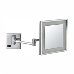 Nameeks Glimmer 8-in x 8-in Square Wallmounted LED 5x Makeup Mirror