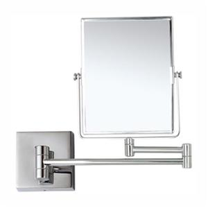 Nameeks Glimmer 8.5-in x 6.3-in Chrome Double Face 5x Wallmounted Makeup Mirror