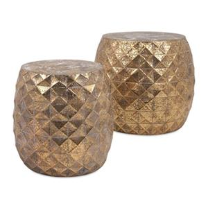 IMAX Worldwide Somerset Gold Stools (Set of 2)