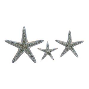 IMAX Worldwide Mosaic Star Fish Wall Decor (Set of 3)