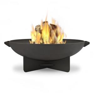 Real Flame 20.25-in x 35.50-in Grey Anson Wood Burning Fire Bowl