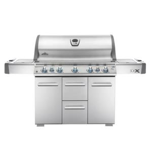 Napoleon 80,000 BTU Natural Gas Grill With Side Burner And Infrared Bottom Rear Burners