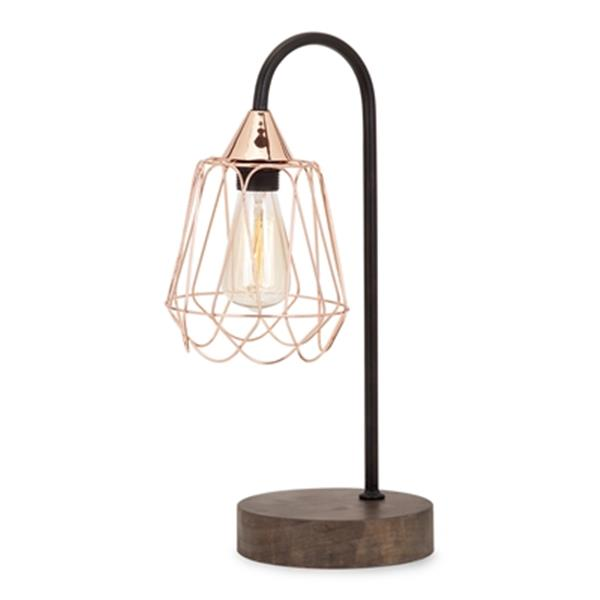 IMAX Worldwide Tilton Copper and Wood Table Lamp